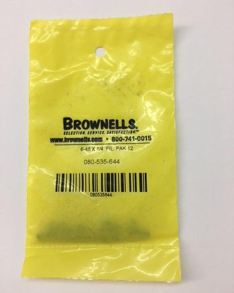 Brownells Screw Pack 6-48 x 1/4