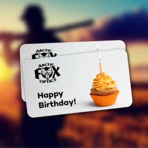 arctic fox optics birthday gift card