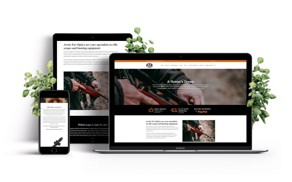 arctic fox optics website design